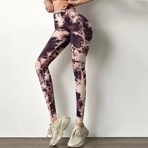 Tie Dye Yoga Highly Elastic Lift Leggings