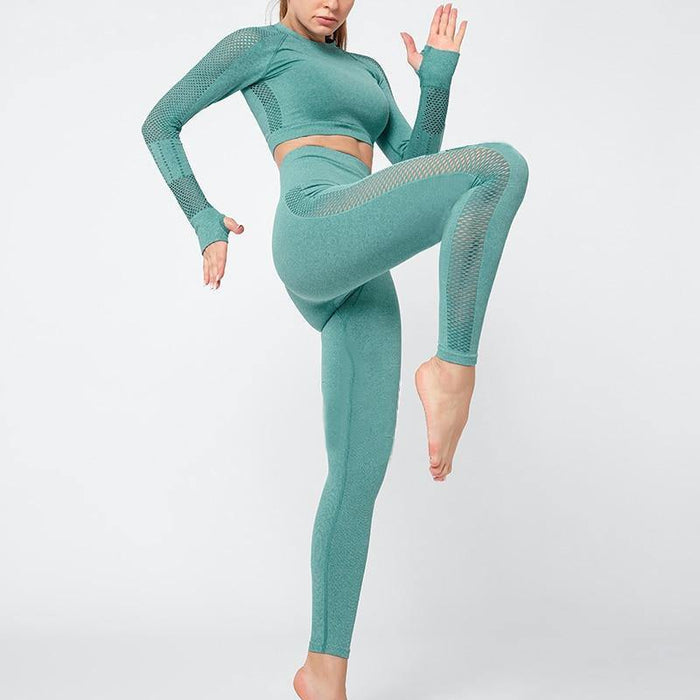 Fitness Sport Yoga Suit Long Sleeve Sports Suit