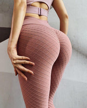 Load image into Gallery viewer, High Waist Butt Lifting Seamless Textured Leggings - Ahanova Sports