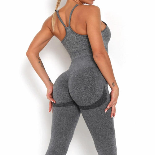 Candy Seamless Yoga Set Suit - Ahanova Sports