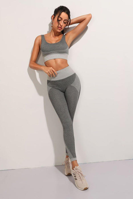 2Pcs Seamless Yoga Set Workout Set Tracksuit - Ahanova Sports