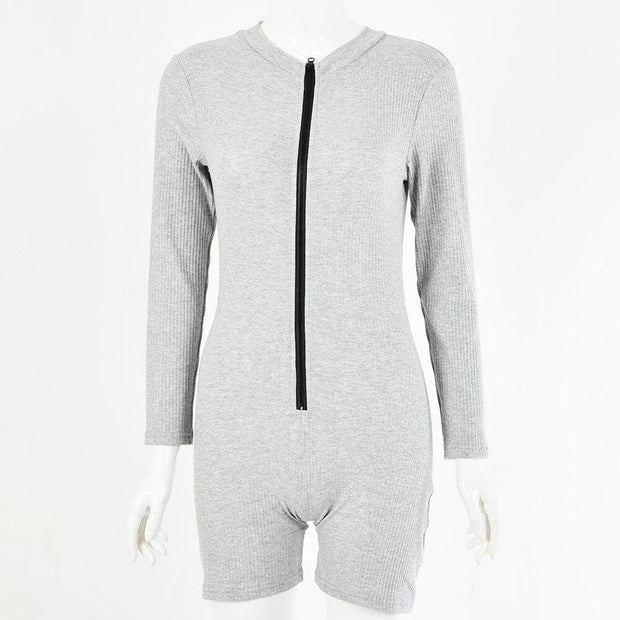 Long Sleeve Jumpsuit Zipper Front Tracksuit Sports Suit - Ahanova Sports