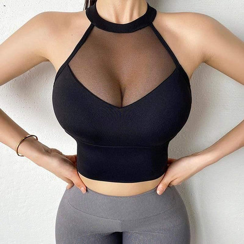 Sexy Sports Bra Mesh Vests - Ahanova Sports