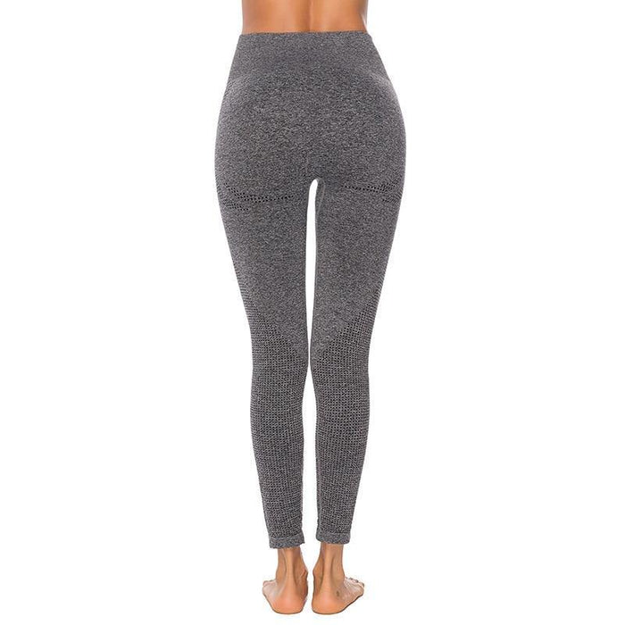 Seamless Leggings+Cropped Shirts Sports Suit