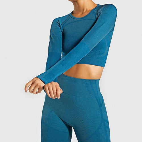 Seamless Ensemble Sexy Thumb Hole Fitness Set - Ahanova Sports