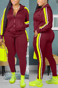 Casual Sports Patchwork Plus Size Set - 7 Colors - Ahanova Sports