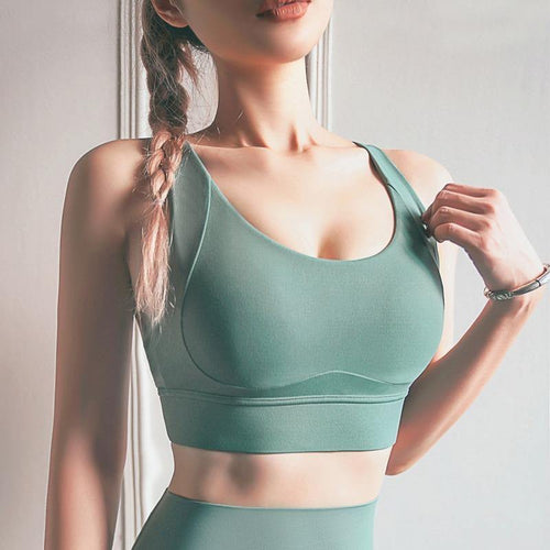 Buckleless Shoulder Strap Running Fitness Bra - Ahanova Sports