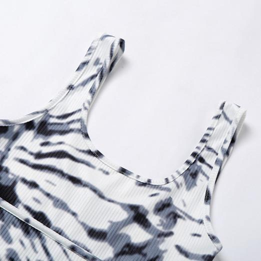 Zebra Printed Activewear Yoga Suit - Ahanova Sports