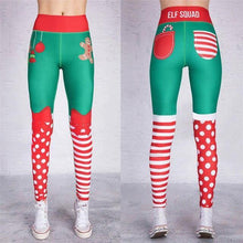 Load image into Gallery viewer, Christmas Printing Elastic High Waist Legging - Ahanova Sports