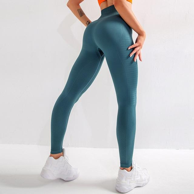 Women High Waist Tummy Control Push Up Fitness Leggings - Ahanova Sports