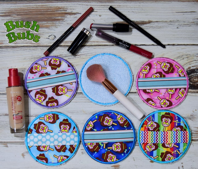 Reusable, washable make up remover pads