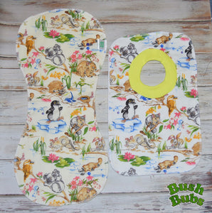 Over the Shoulder Baby Burper and Bib set