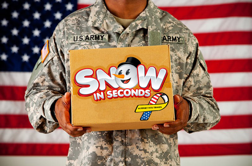 Snow for Troops - Help Us Donate a Blizzard of Snow to Soldiers Overseas This Holiday Season