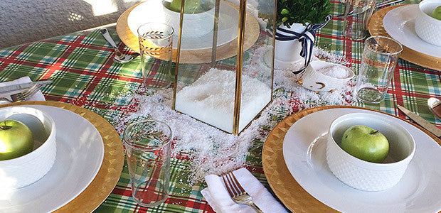 Creating a Festive Tablescape with Snow in Seconds Fake Snow