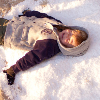 Snow angel at frozen party