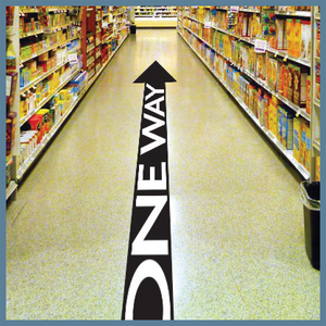 One Way Arrow Floor Graphic