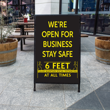 Load image into Gallery viewer, Outdoor A-Frame Sidewalk Sign