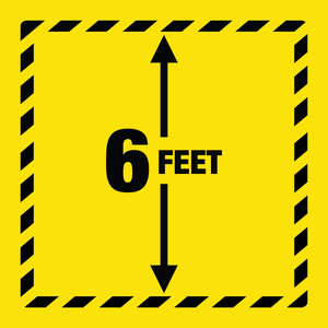6 Feet Yellow Square Floor Graphic