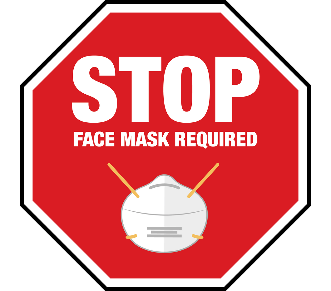 Stop Face Mask Required Floor Graphic 24