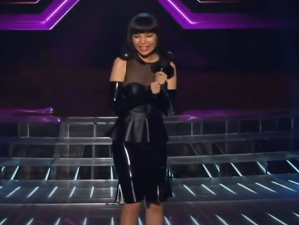 2013: Max Black has The X Factor - Dami Im wears MB Latex!