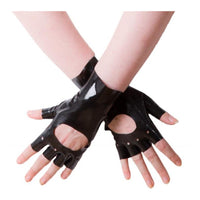 Moulded Latex Short Biker Gloves