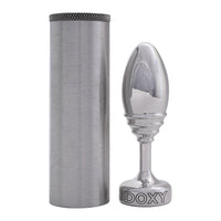 Doxy Ribbed Metal Butt Plug