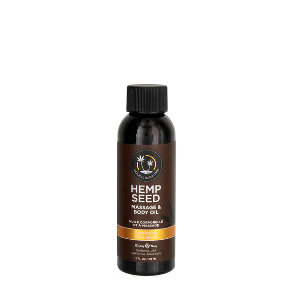 Earthly Body Hemp Seed Massage Oil Dreamsicle 59ml