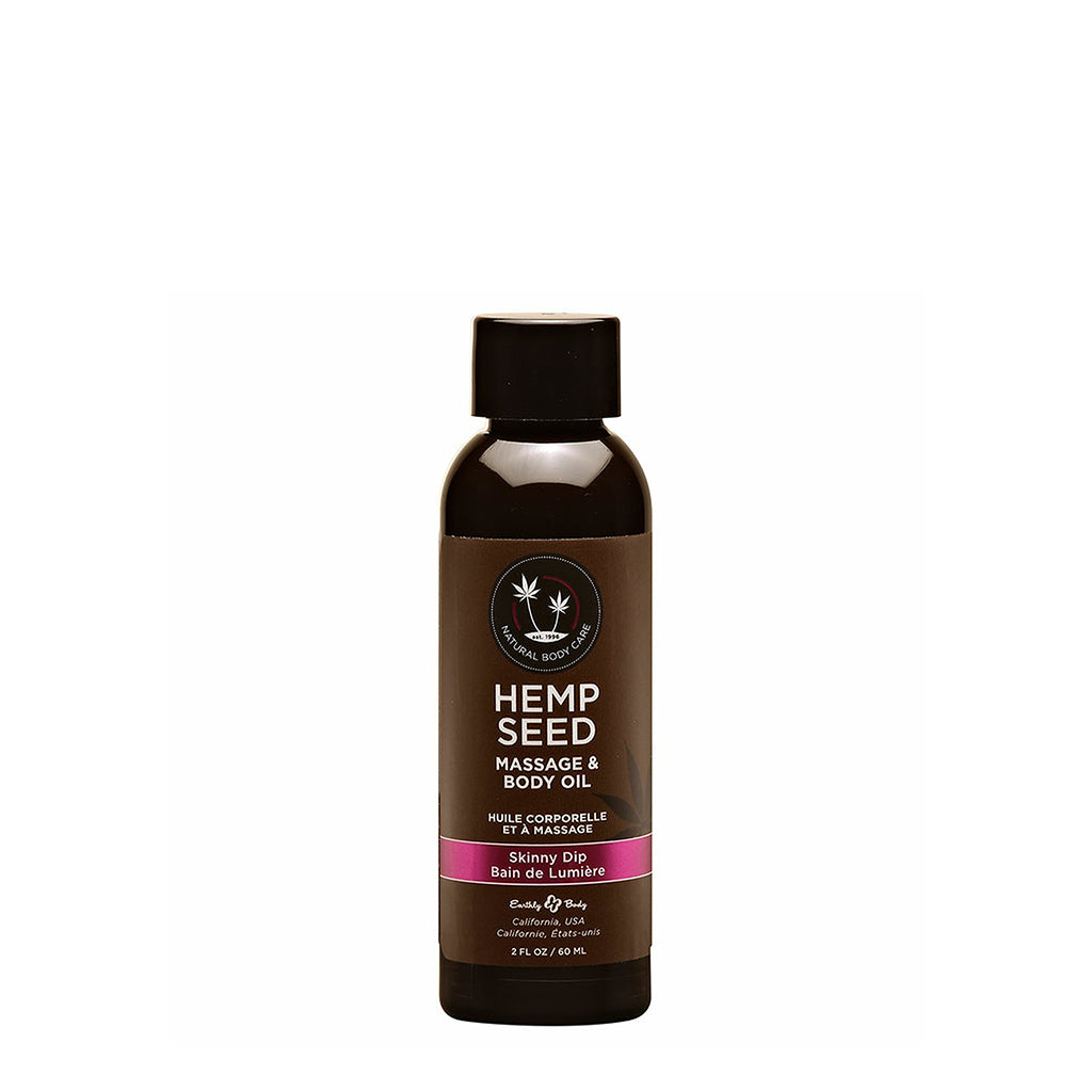 Earthly Body Hemp Seed Massage Oil Skinny Dip 59ml