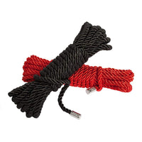 Fifty Shades Black & Red Satin Rope Twin Pack