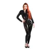 Honour Latex High Waisted Front Zip Catsuit