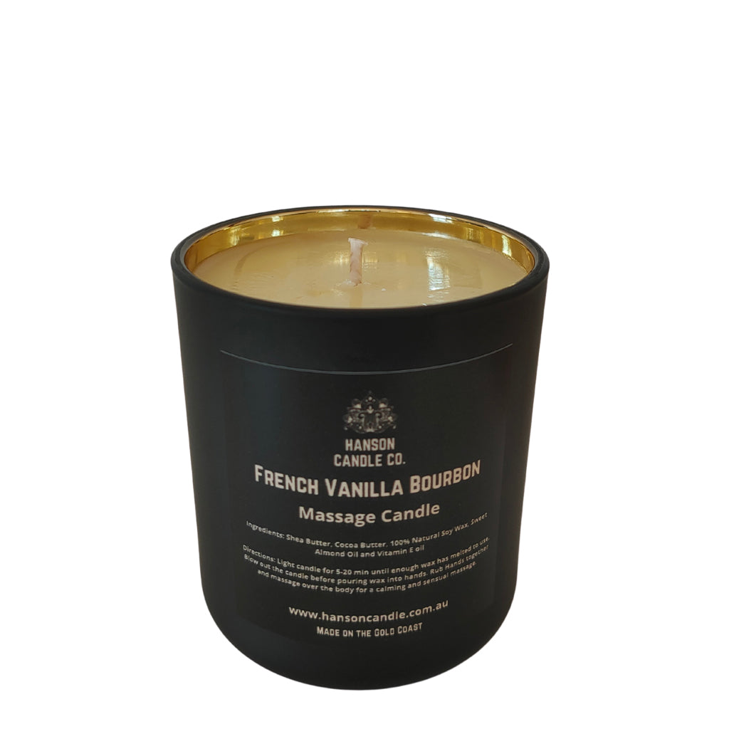 Hanson Soy Massage Candle French Vanilla Bourbon
