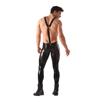 Honour Latex Skinny Jeans with Braces
