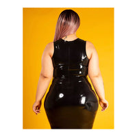 Honour Latex Zip Vest Top