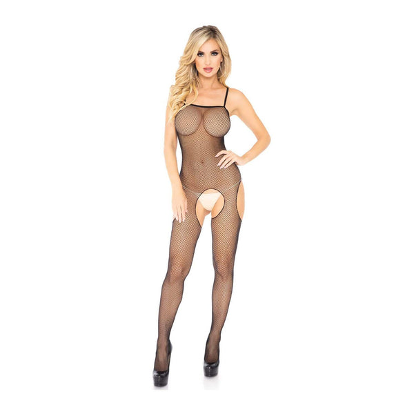 Leg Avenue Crotchless Spagetti Strap Fishnet Body Stocking