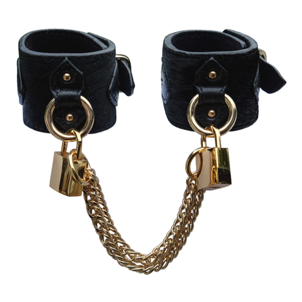 The Model Traitor Chained Wrist Cuffs with Square Padlocks