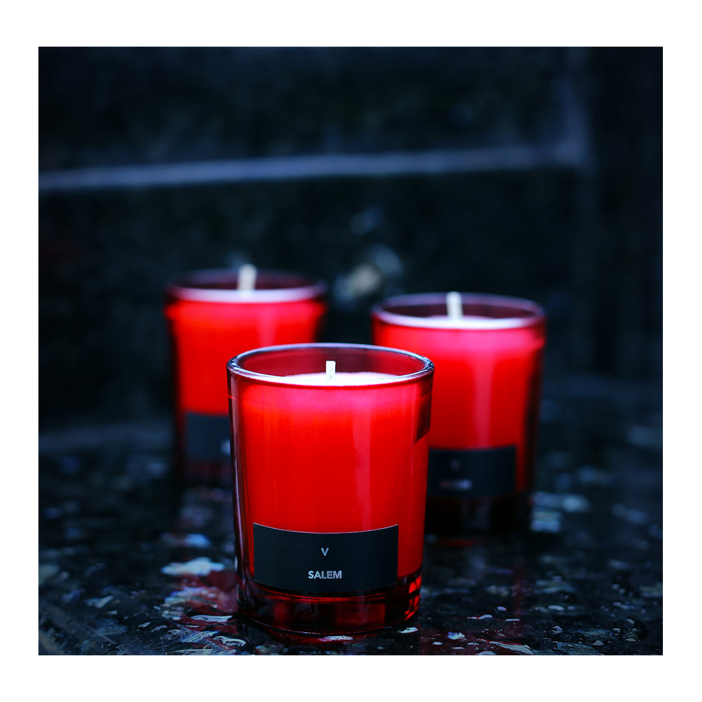 Nocturna Candle Triptych Scarlet