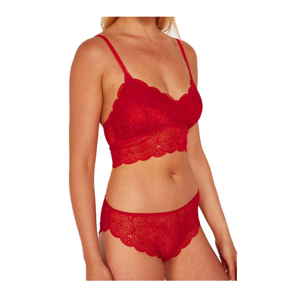 Wolf & Whistle Ariana Lace Brief Red