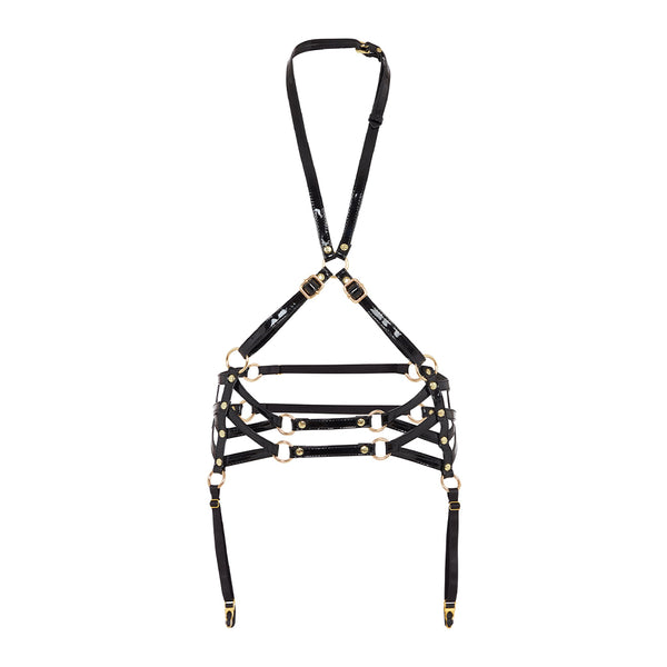 Regalia Body Harness w/ Suspenders Deco Blk