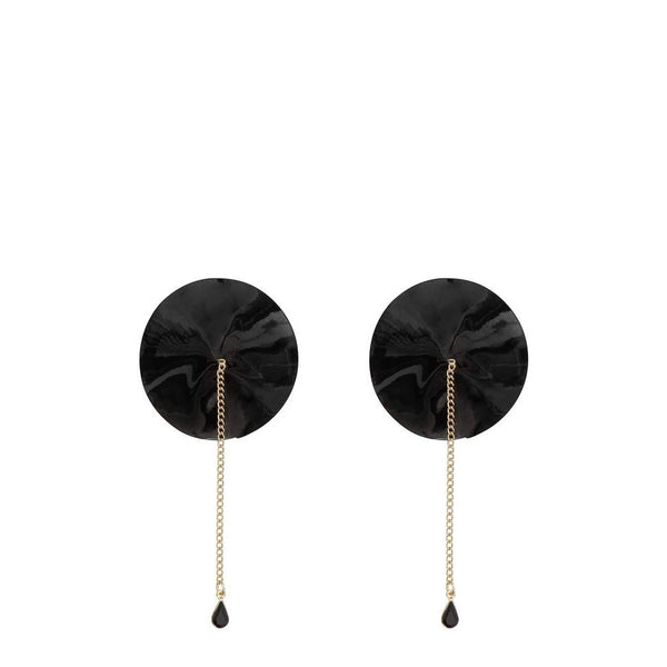 Regalia Gold Chain Nipple Pasties Black
