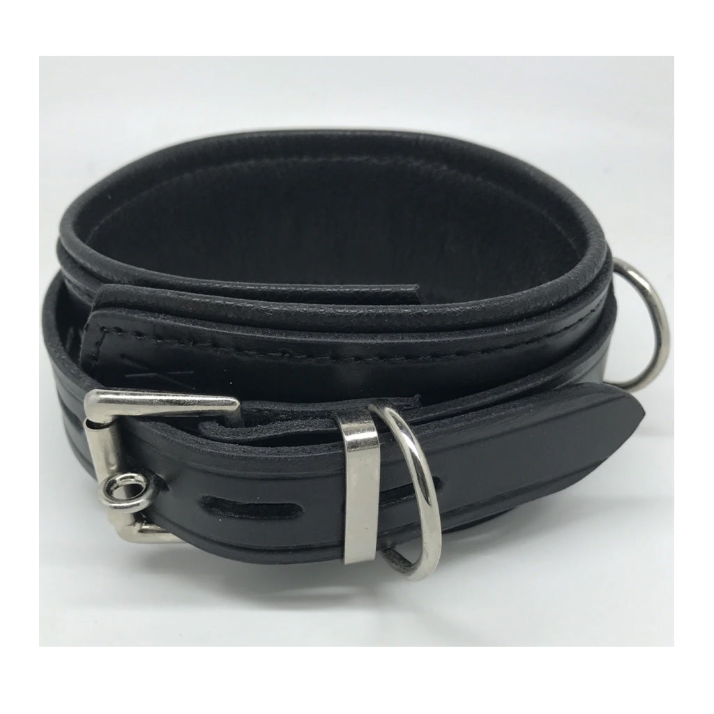 Sax Leather Deluxe Lockable D-Ring Collar