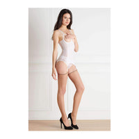 Maison Close Cut and Curled Back Seam Stockings 20 Denier