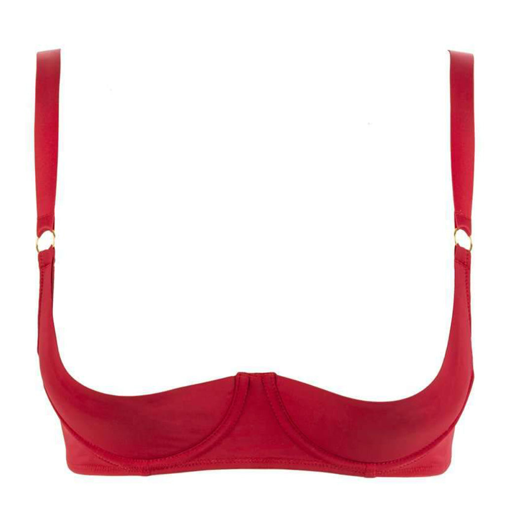 Maison Close Tapage Nocturne Quarter Cup Bra Red