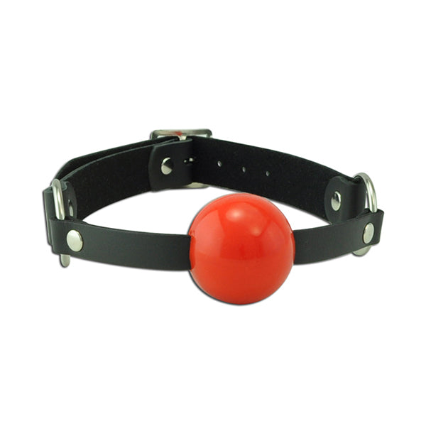 Wild Hide Buckle Ball Gag Red