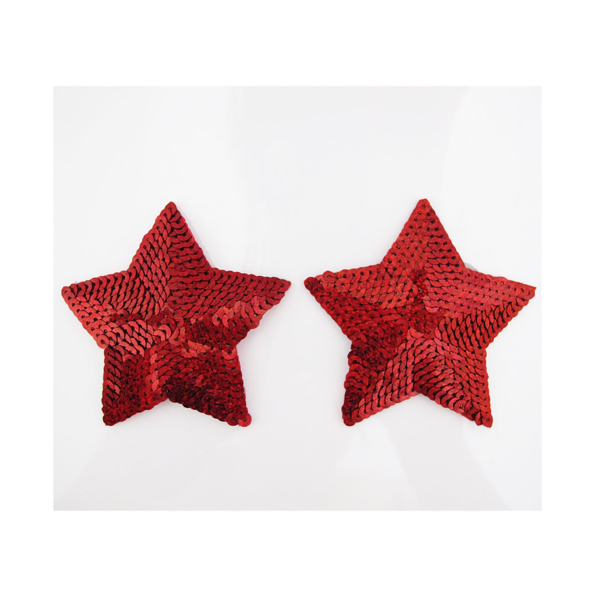 Love in Leather Sequin Star Nipple Pasties