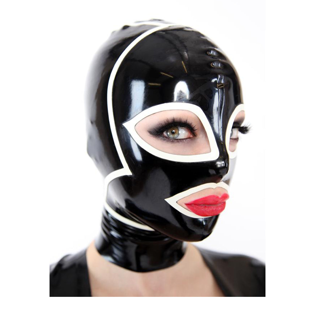 Rubber55 Thin Latex Hood 20mm Black/Red