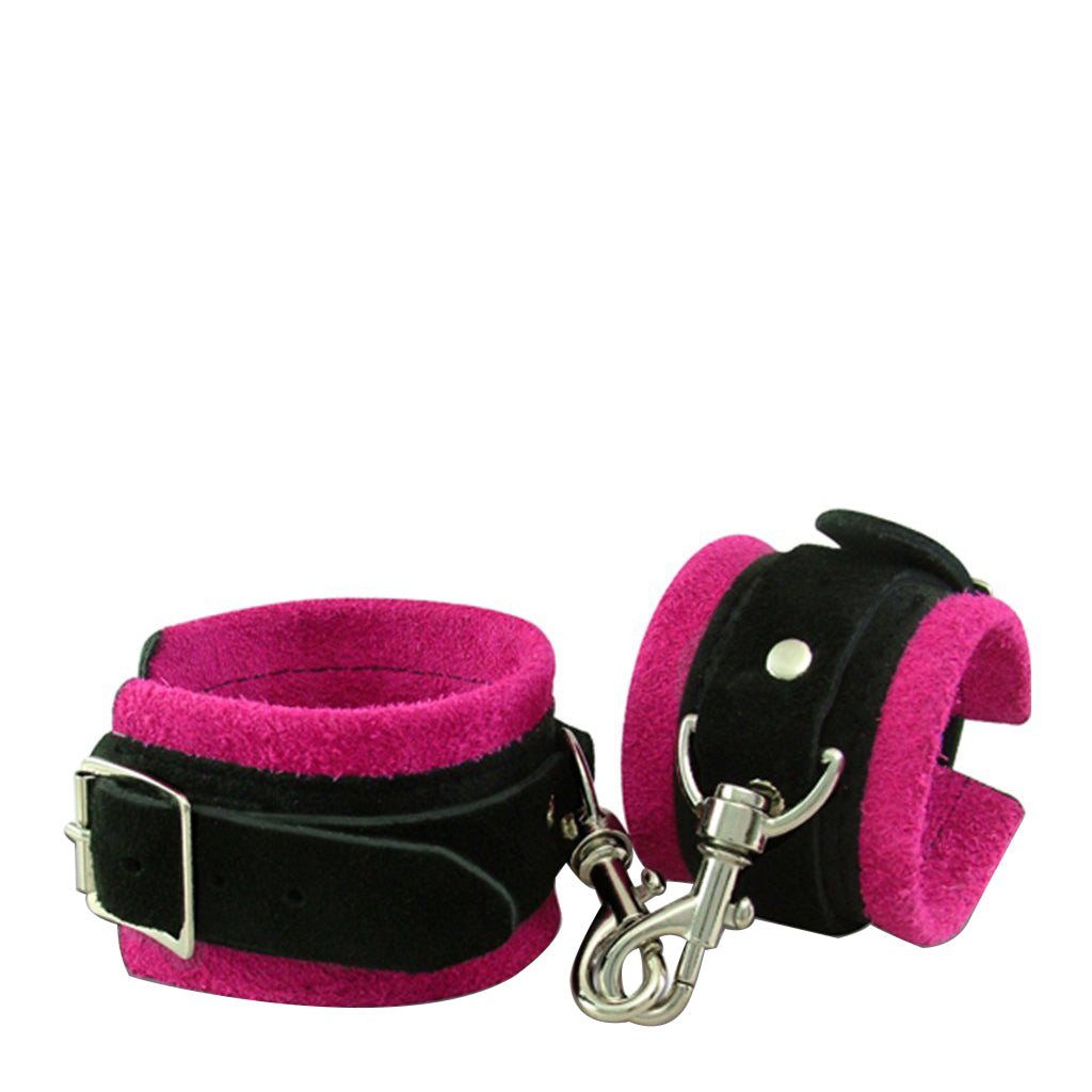 Wild Hide Suede Pleasure Cuffs