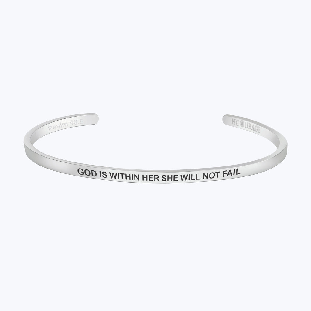 GOD IS WITHIN HER SHE WILL NOT FALL - NCOURAGE Bands and Bracelets