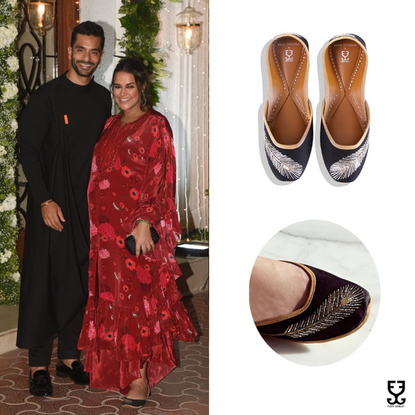 Neha Dhupia in FEATHER BLACK : PAYAL SINGHAL X FIZZY GOBLET