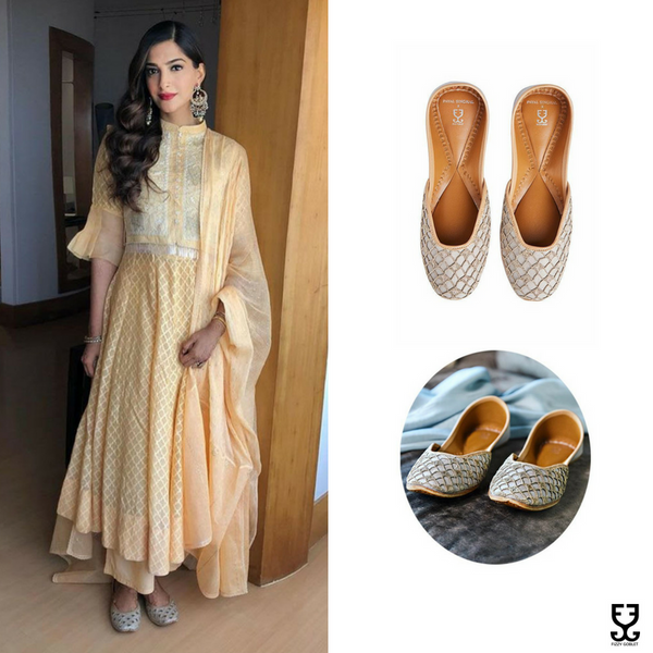 Sonam Kapoor in Luminous Gold: Payal Singhal X Fizzy Goblet
