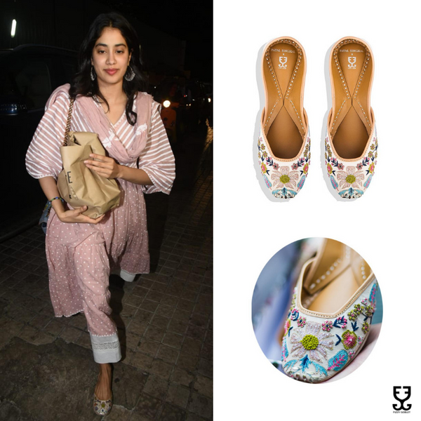 Jhanvi Kapoor in FLOWER POWER: PAYAL SINGHAL X FIZZY GOBLET